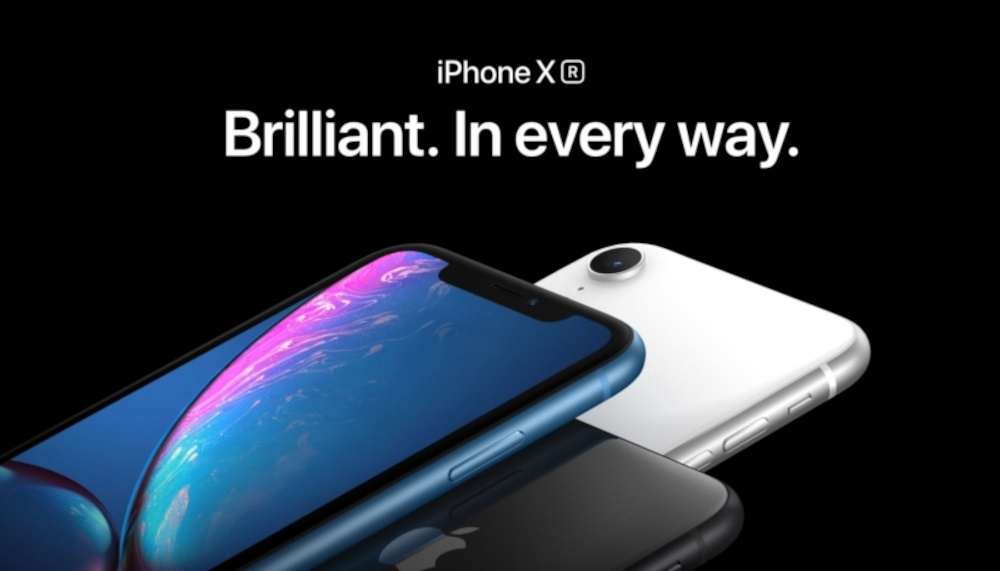 advertisement of iphone xr using effective power words that sell