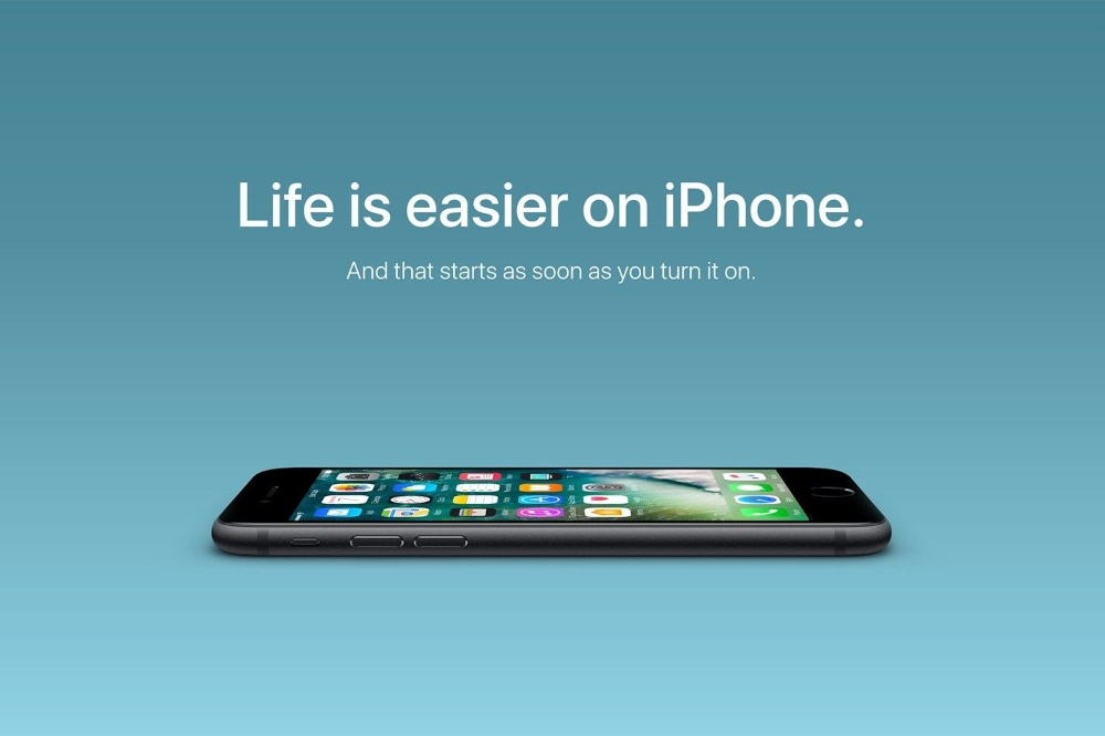 apple iphone advertisement using effective copywriting power words that sell