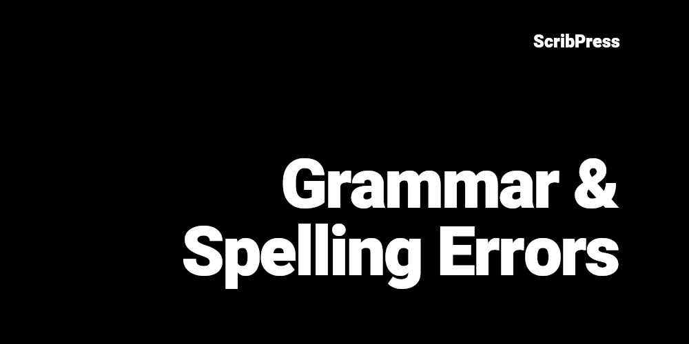 grammar and spelling errors blog post banner