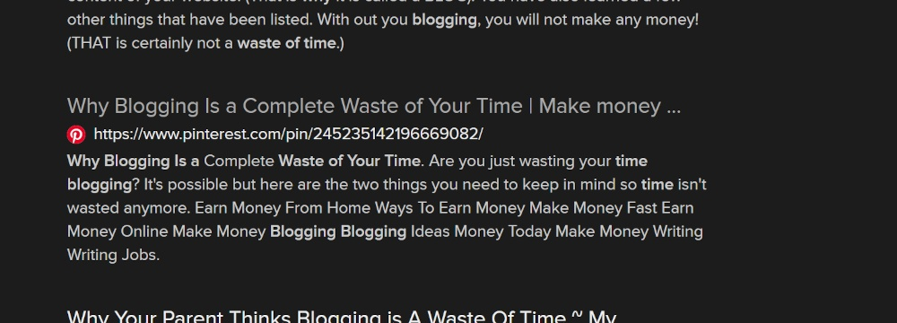 bold headline copywriting on blogging