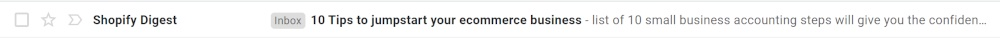 power words seen in email subject lines in newsletters
