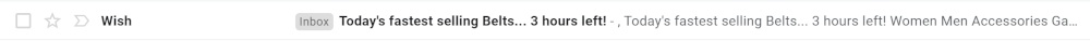 power words seen in email subject lines in ecommerce
